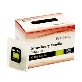 Tea2You White te jordbær og vanilie